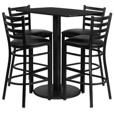 Deloris 5 Piece Pub Table Set
