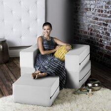 Modular Sleeper Chair with Ottoman