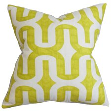 Suzanne Geometric Cotton Throw Pillow