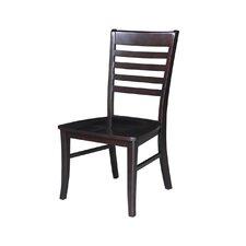 Soild Wood Side Chair in Dark Walnut (Set of 2)