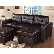 Reversible Chaise Sectional in Espresso