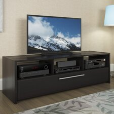 Black TV Stand with Open Storage