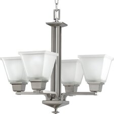 Chickamauga Traditional 4 Light Chandelier in Brushed Nickel