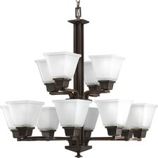Chickamauga 12 Light Two Tier Chandelier in Venetian Bronze