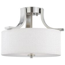 Lake Park 2 Light Ceiling Lamp in Brushed Nickel