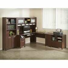 4-Piece L-Shape Desk Office Suite