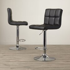 Andres Adjustable Height Swivel Bar Stool (Set of 2)