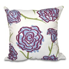 Cherry Spring Floral 1 Print Throw Pillow