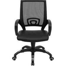 Brenna Mid-Back Leather Office Chair