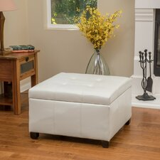 Belle Glade Faux Leather Storage Ottoman