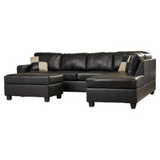 5 Piece Bonded Bonded Leather Sectional Sofa