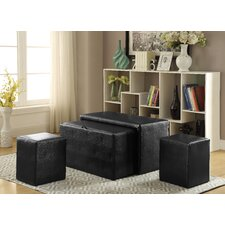 Syden 4 Piece Upholstered Storage Entryway Bench Set