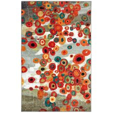 Burwood Tossed Floral Multi Printed Area Rug
