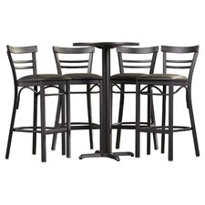 Brodeslavy 5 Piece Pub Table Set