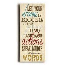 Let Your Dreams Textual Art