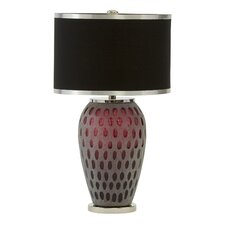 "Dalley 26.25"" H Table Lamp with Drum Shade"