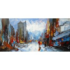 Abstract City Original Painting
