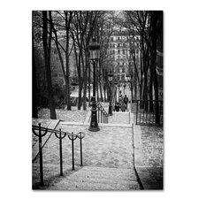 Staircase Montmartre Paris Photographic Print on Wrapped Canvas