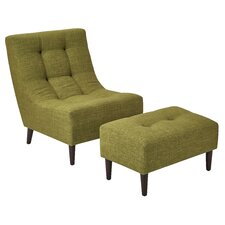 Martha Chair and Ottoman