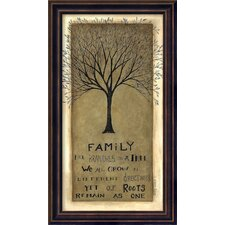 Family Tree Framed Graphic Art