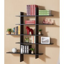 5 Shelf Asymetric Wall Shelf