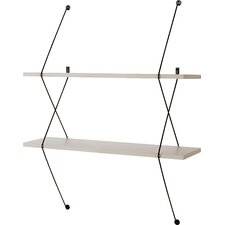 2 Shelf Shelving System with Wire Bracket