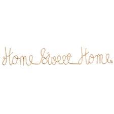 Home Sweet Home 3D Cursive Wall Décor