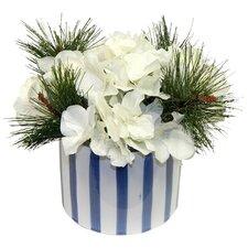 White Christmas Hydrangea Arrangement
