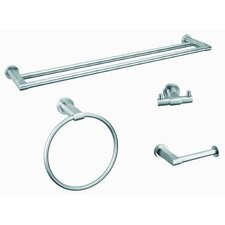 Moderna 4 Piece Bathroom Hardware Set