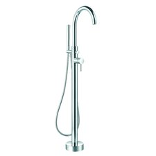 Prima Single Handle Floor Mount Bathtub Faucet with Shower Wand