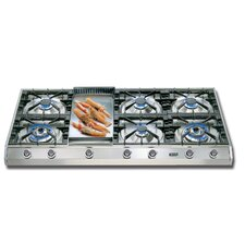 "48"" Gas Cooktop with 6 Burners"