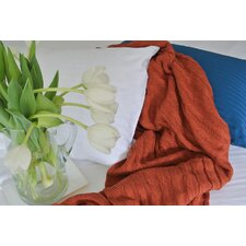 Certified Organic Cotton Cable Knit Throw