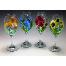 Let's Toast Piece Wine Glass (Set of 4)