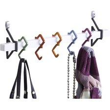 5 Hook Wall Mounted Coat Rack
