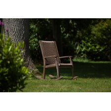Hanoi Wood and Weave Rocking Armchair