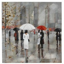 New York in the Rain Art Print on Canvas