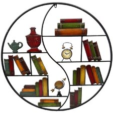Young Farm Metal Art Circular 'Bookshelf' Wall Décor