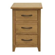 Pheasant 3 Drawer Bedside Table