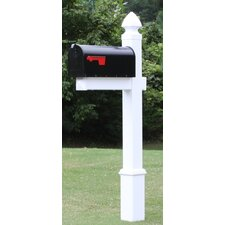 The Hayes Vinyl/PVC Mailbox Post and Mailbox