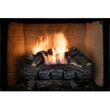 Four Seasons Golden Eclipse Vent-Free Log Set with Remote