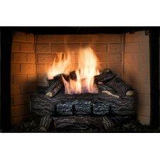 Four Seasons Golden Eclipse Vent-Free Remote Burner and Log Set Natural Gas