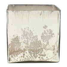 Mercury Glass Cube Vase
