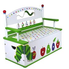 The Very Hungry Caterpillar Kids Bench with Storage Compartment