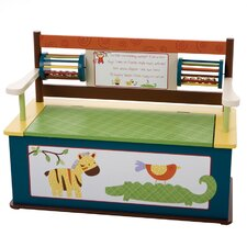 Jungle Jingle Kids Bench with Storage Compartment