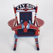 Rock A Buddies Fly Boy Airplane Kids Rocking Chair