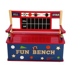 All Star Sports Kids Bench with Storage Compartment