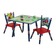 Gettin' Around Kids' 3 Piece Table and Chair Set