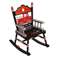 Rock A Buddies Fire Engine Kids Rocking Chair