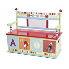 Alphabet Soup Kids Bench with Storage Compartment