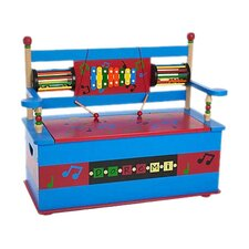 Musical Kids Bench with Storage Compartment